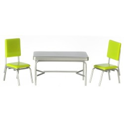 1950'S TABLE SET, 3PC, GREEN