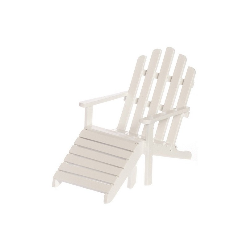 Adirondack chaise white dollhouse outdoor chairs for Adirondack chaise