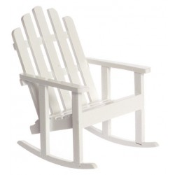 ADIRONDACK ROCKER CHAIR, WHITE