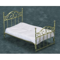 Brass Single Bed with Mattress