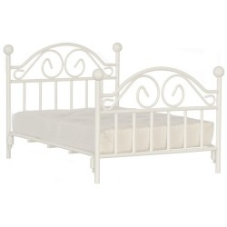 DOUBLE BED W/MATTRESS, WHITE