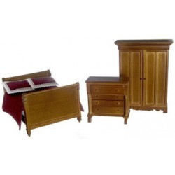 LINCOLN BEDROOM SET, WALNUT