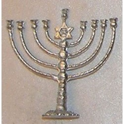 MENORAH,LG, SILVER COLOR
