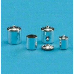 CANISTER SET, STAINLESS STEEL, 3PC