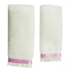 BATH TOWEL SET/2/WHT/PURP