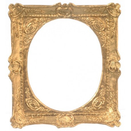 Frame/gold/3 1/8x2 1/2   Dollhouse Pictures & Frames   Superior Dollhouse  Miniatures
