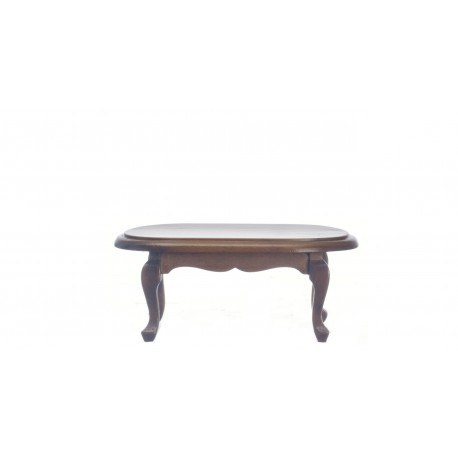 OVAL COFFEE TABLE/WALN/CB
