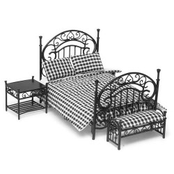 BEDROOM SET/3/BLACK/CB