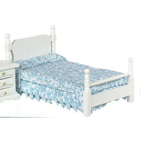 Single Bed white cb Dollhouse Beds