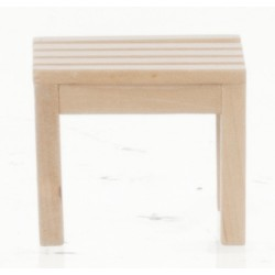 GARDEN END TABLE/OAK/CB