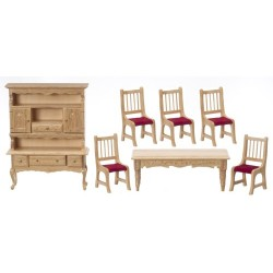 True Oak -7 Pc Dining Room