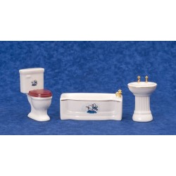 3Pc Modrn Blu Duck Dec Bath