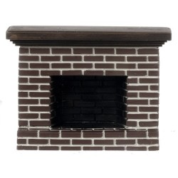 SMALL RED BRICK FIREPLACE
