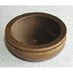 SMALL WOODEN BOWL/STAINED