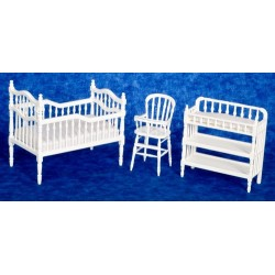 BABY ROOM SET, 3, WHITE