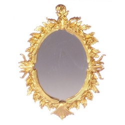 OVAL ANTIQUE MIRROR/GOLD