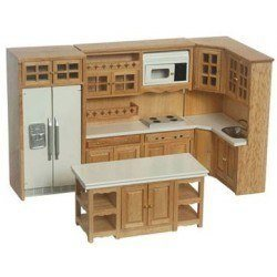 Oak Kitchen Set 6pc