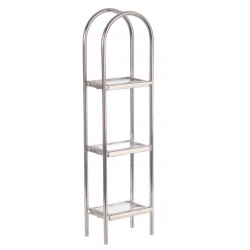 CHROME/GLASS ETAGERE