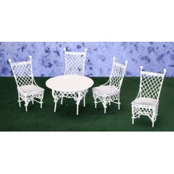 GATHERING TABLE, 4 CHAIRS