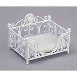 RECTANGULAR CAT BED, WHITE