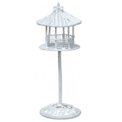 BIRD FEEDER, WHITE