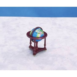WORLD GLOBE, MAHOGANY