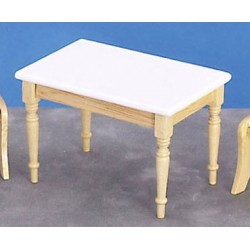 KITCHEN TABLE, WHITE/OAK
