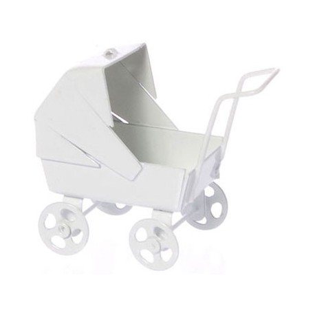 BABY CARRIAGE, PASTEL WHITE
