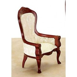 VICT GENT'S CHAIR, WHITE/MAHOGANY