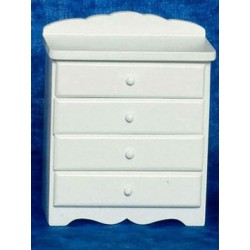 BABY CHEST, WHITE W/BEAR DECAL