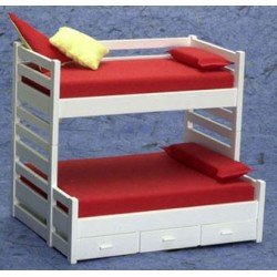 BUNKBED W/TRUNDLE/WHITE