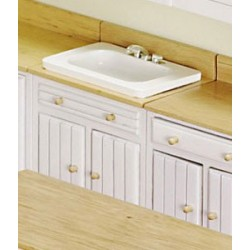 MODERN SINK, WHITE/OAK