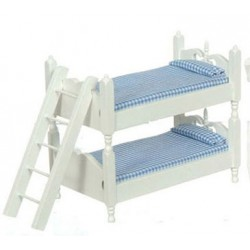 BUNKBEDS W/LADDER/BLUE & WHITE