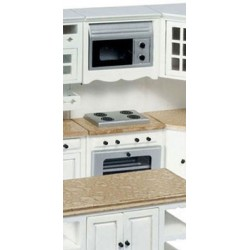 OVEN W/MICROWAVE, WHITE, MARBLE