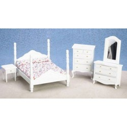 &AZ05128: BEDROOM SET, WHITE, 5PC