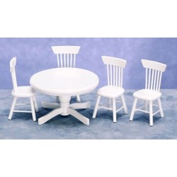 KITCHEN TABLE & CHAIRS, WHITE/5PC