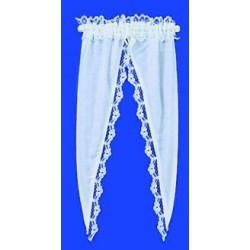 CURTAINS: TIFFANY RUFFLE, WHITE