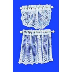 CURTAINS: COUNTRY CROCHET LACE, WHITE