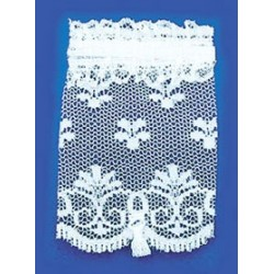 SHADE: STANDARD WINDOW, WHITE LACE