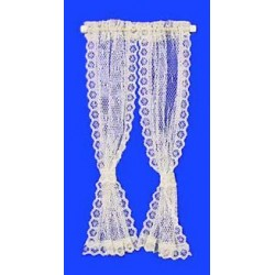 CURTAINS: LACE CURTAIN, ECRU