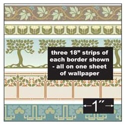 6 pack Wallpaper: Arts & Crafts Borders