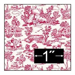 6 pack Wallpaper: Campagne Toile Red