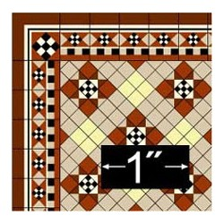 6 pack Wallpaper: Victorian Tile