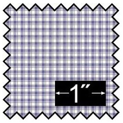 SILK FABRIC: FRENCH CHECK BLUE