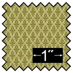 SILK FABRIC: DAMASK - GREEN