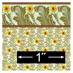6 pack 1/2 Scale Wallpaper: Sunflower