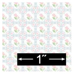 6 pack 1/2 Scale Wallpaper: French Rose