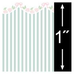 6 pack 1/4 Scale Wallpaper: Garland, Blue