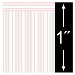 6 pack 1/4 Scale Wallpaper: Oxford Stripe, Rose