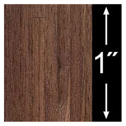 6 pack 1/4 Scale Wallpaper: Walnut Plank Flooring